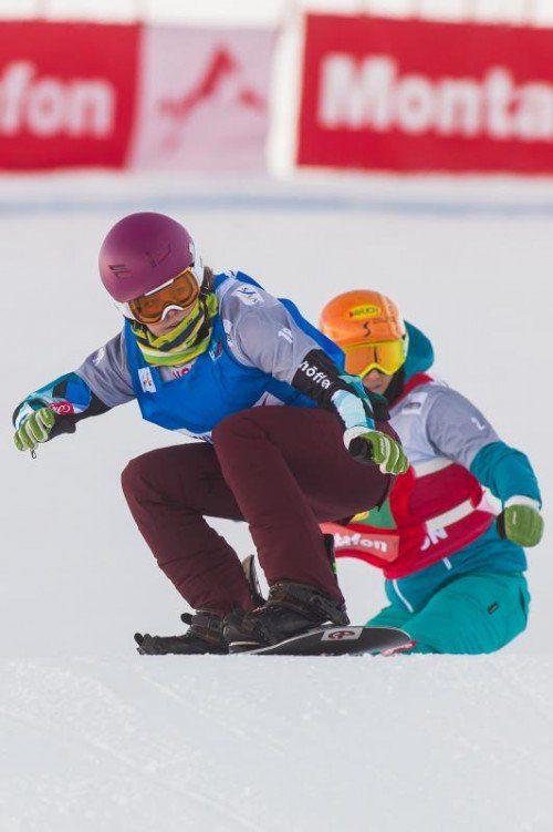 SBX, Snowboardcross Europacup am Hochjoch in Schruns, Christine Holzer, Susanne Moll, Susi Moll