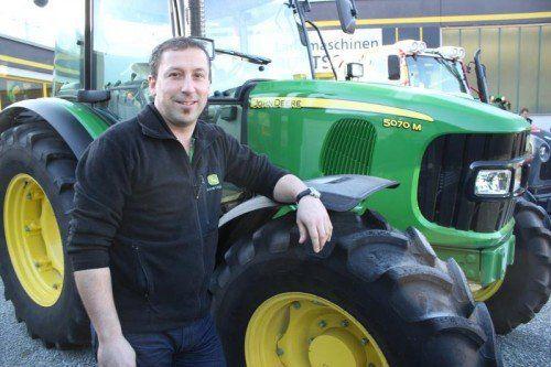 Siegfried Burtscher bietet Landmaschinen in allen Größen und Formen.  Foto: VN