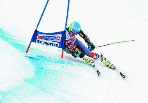 Zweimal Laufbestzeit, Ted Ligety war im Riesentorlauf in St. Moritz nicht zu biegen. Foto: gepa