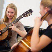 Junge Musiker ganz groß