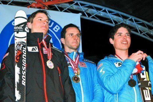 Am Siegerpodest: Magnus Walch (l.) und Marcel Mathis. Foto: MT