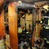 Götzis: Überhitzte Saunakabine fing Feuer