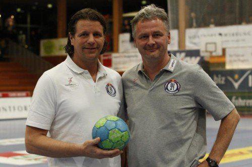 Das Trainerduo Roman Frimmel (l.) und Roland Marouschek. zaponig