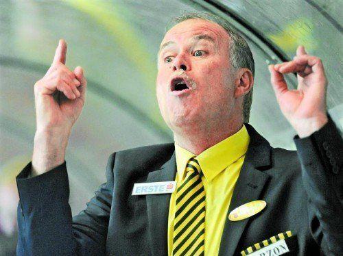 Dave MacQueen dirigierte seine Mannschaft mit Leidenschaft zu Platz fünf in der Erste Bank Liga. Foto: gepa