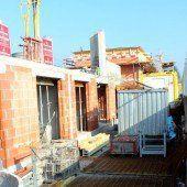 Bauarbeiten an Wohnprojekt in vollem Gang