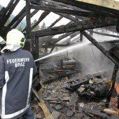 Alte Sägerei durch Brand zerstört