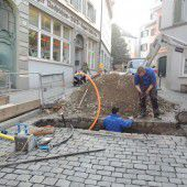 Sperre in der Kirchstraße