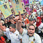 Erster Endspurt für Wahlkämpfer in Indonesien