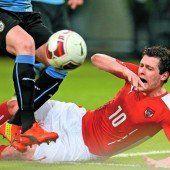 Uruguay ein 1:1 abgeknöpft