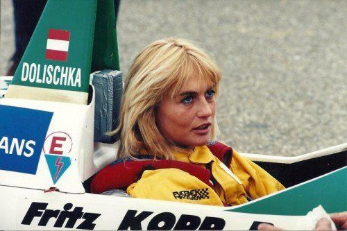 Ein Bild aus vergangenen Tagen. So kannten die Vorarlberger die Rennfahrerin Osmunde Dolischka. Foto: Noger