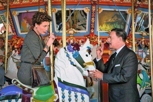 """Emma Thompson (54) und Tom Hanks (57) sind P.L. Travers und Walt Disney in """"Saving Mr. Banks"""". Foto: Disney"""