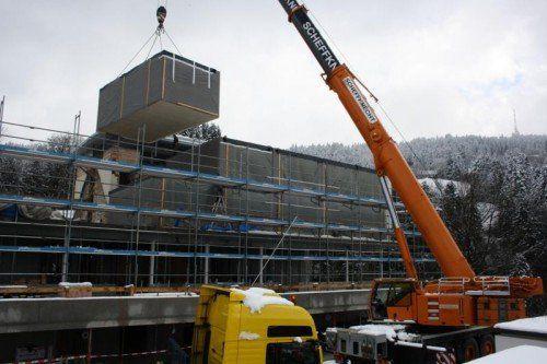 Ende Juni 2014 soll der Um- und Neubau abgeschlossen sein.