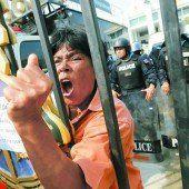 Regierungsanhänger protestieren gegen Korruptionsermittlungen