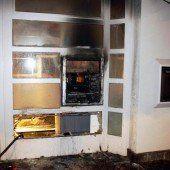Bankomat bei Rorschach in Brand gesteckt