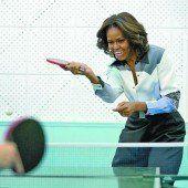 Michelle Obama nähert sich den Chinesen spielerisch an