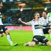 Altach marschiert nach 2:0-Derbysieg in Richtung Meistertitel