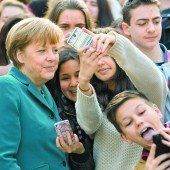 Selfies mit Schülern