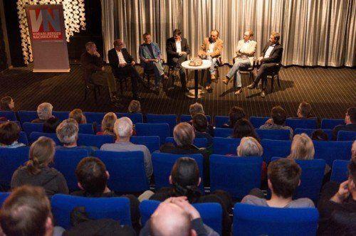 Im Metro-Kino hat Grünen-Chef Johannes Rauch die Idee eines Staatsvertrags rund um den See erstmals formuliert.  Foto: VN/Stiplovsek