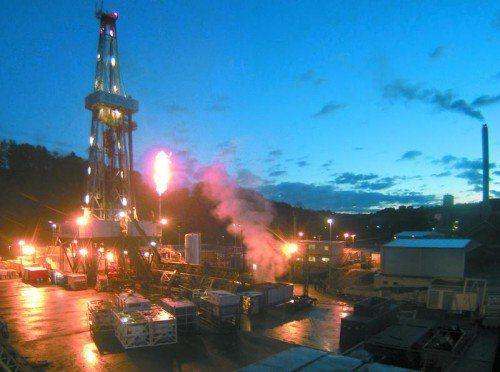 """Im St. Galler Sittertobel hat das Geothermieprojekt ungewollt Gasvorkommen """"angezapft"""". Wie groß die sind, weiß niemand.  foto: geothermieprojekt st. gallen"""