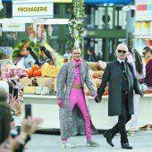 Karl Lagerfeld lud zum Luxus-Shopping