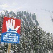 In Vorarlberg erhebliche bis große Lawinengefahr
