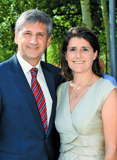 Michael und Margit Spindelegger 2013 in Bregenz. VN/Hofmeister