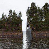 Gedenkstätten für Opfer von Breivik-Massaker