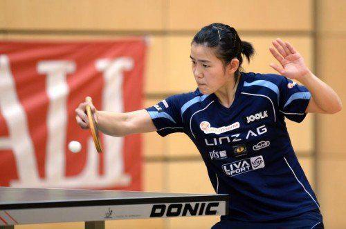 Mit zwei Gold- und einer Silbermedaille war Yuan Liu (Bild) gemeinsam mit Amelia Solja die erfolgreichste ÖM-Teilnehmerin. Foto: gepa