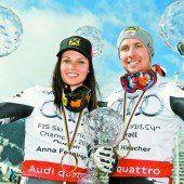 Anna Fenninger und Marcel Hirscher räumten ab