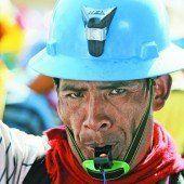 Bergarbeiter kämpfen in Lima für ihre Existenz