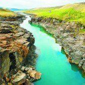 Malerische Landschaft in Island
