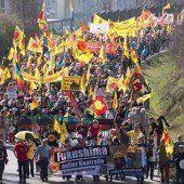 Vor Jahrestag: Proteste gegen Atomkraftwerke