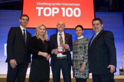 top100, top 100, preisverleihung bei der firma künz in hard