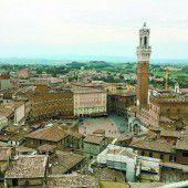 Die mittelalterliche Kleinstadt Siena
