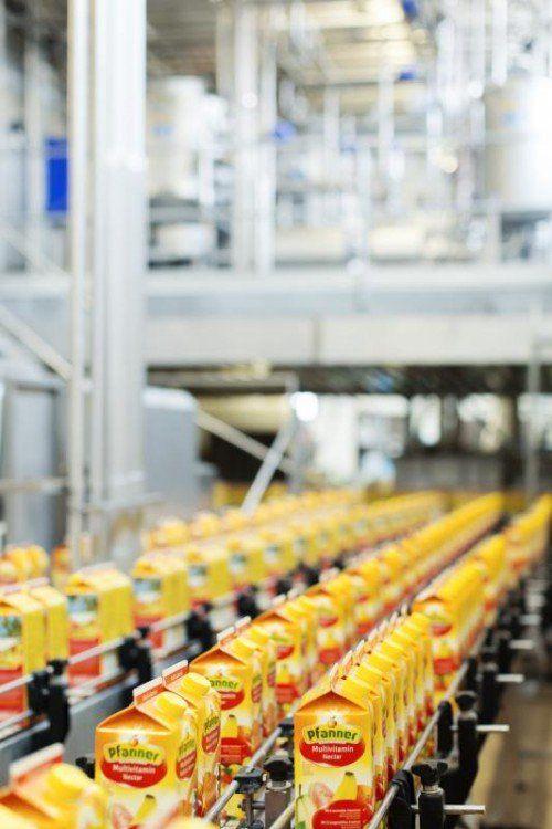 In der Produktion bei Pfanner gelten hohe Hygieneansprüche. FA/Mathis