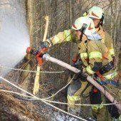 Schwieriger Brandeinsatz