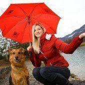 Regenschirm statt Sonnenhut