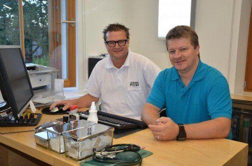 Die Gemeindeärzte Karl-Heinz Grotti (l.) und Stefan Beer wurden zum politischen Spielball.  Foto: MWE
