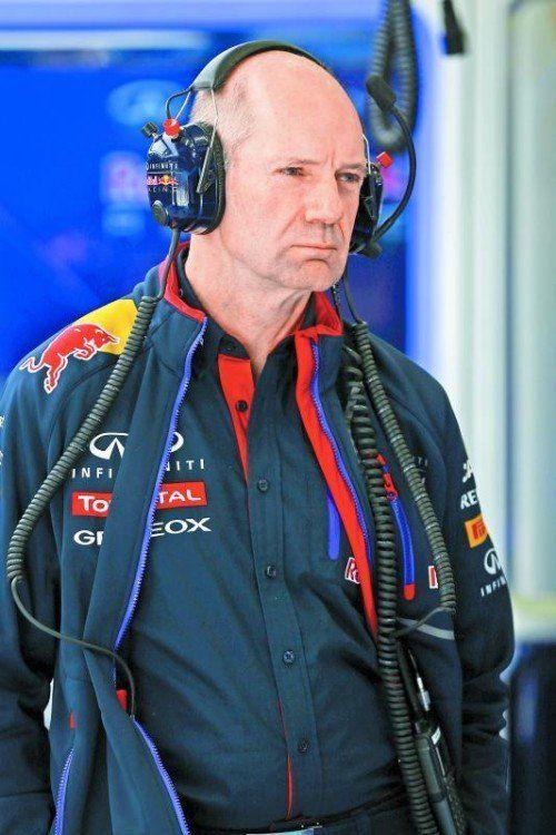 Adrian Newey sieht ein Problem in der Aerodynamik als Ursache für den Unfall von Ayrton Senna vor 20 Jahren. Foto: gepa