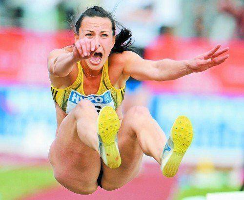 Anna Melnychenko kommt mit WM-Gold ins Mösle. Foto: ap