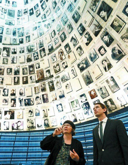 Außenminister Sebastian Kurz in Yad Vashem. Foto: APA
