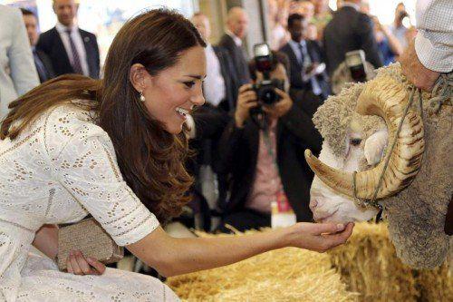 Bei einer Agrarshow gab es Streicheleinheiten von Kate. Foto: Reuters