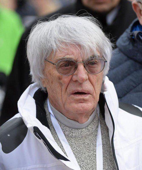 Bernie Ecclestone muss sich wegen Bestechung in München vor Gericht verantworten. Foto: epa
