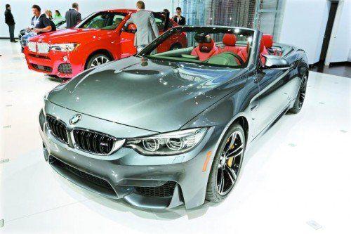 BMW zeigt in New York das neue M4 Cabrio. Foto: werk