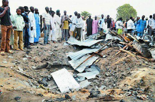 Bombenanschlag in Maiduguri, einer Millionenstadt im Nordosten Nigerias vor wenigen Wochen: mindestens zehn Tote. Foto: Reuters