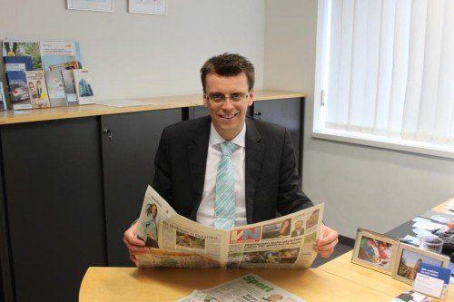 Christian Breuß liest den Sport-Teil immer zuerst.  Foto: VN/jwa