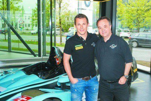 Christian Klien lobte beim Interview das Auto, Benoit Morand (r.) seinen Piloten. Foto: steurer