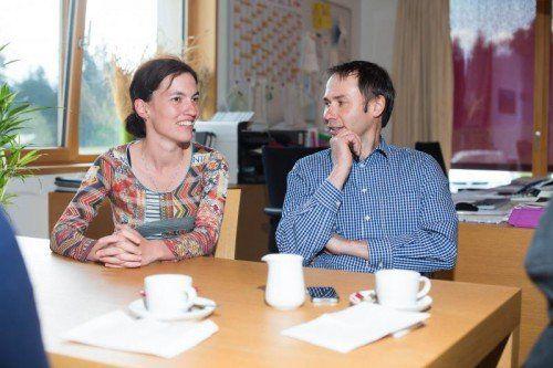 Claudia und Bertram Martin im Gespräch mit den VN in ihrem Büro in Buch.