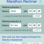 Neuer Marathon-Rechner