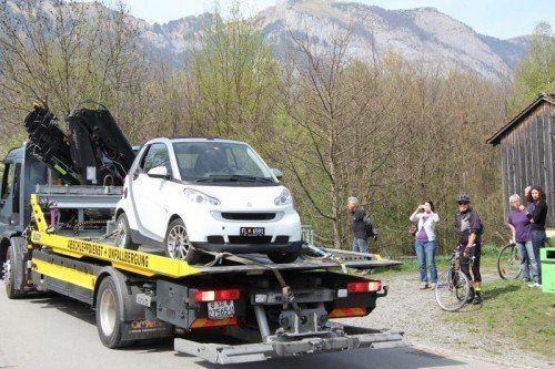 Das Fluchtfahrzeug des mutmaßlichen Mörders soll schon vor der Tat des Öfteren in Ruggell gesichtet worden sein.  Foto: VOL.AT/Rauch